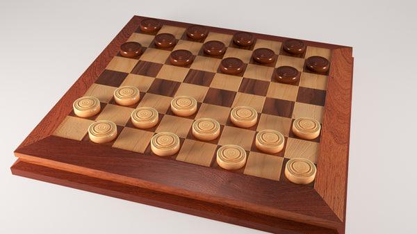 3d checker board
