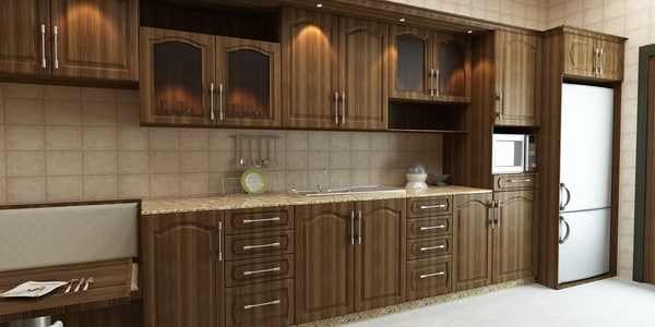 interior kitchen 1 3d model