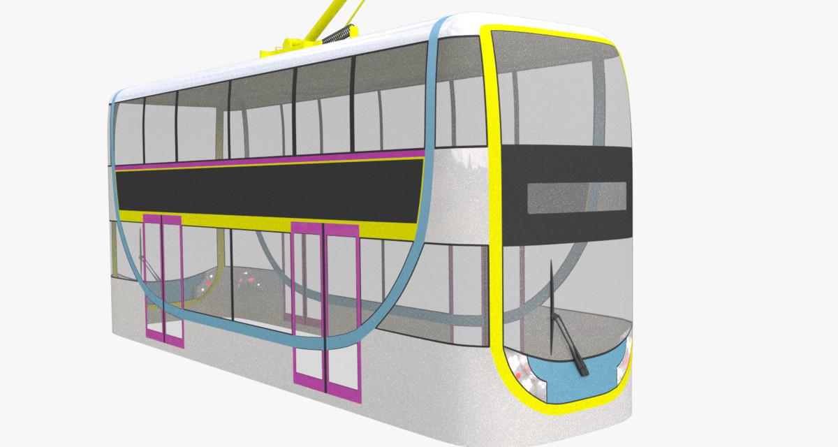 free obj mode doubledecker tram