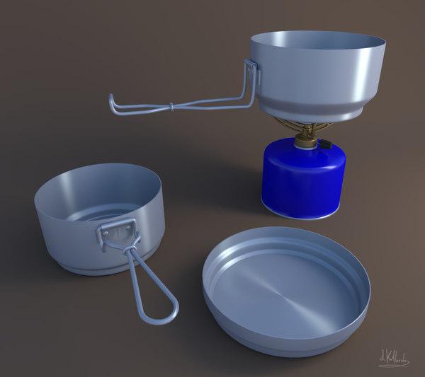 3d camping utensils