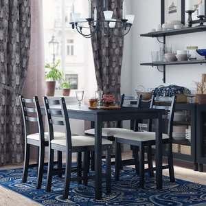 ikea lerhamn dining room 3d model