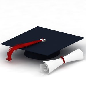 3d model graduation cap
