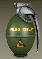3d grenade bomb model