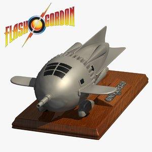3d model flash gordon rocket ship