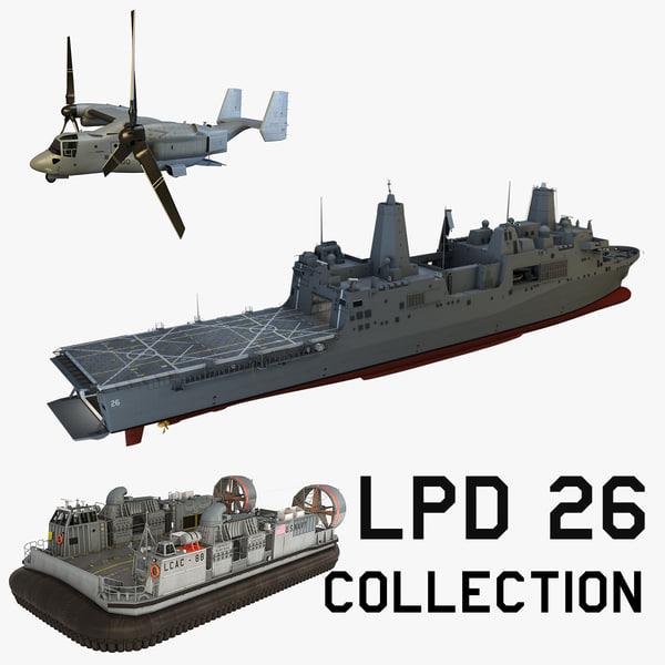 uss p lpd-26 3d model
