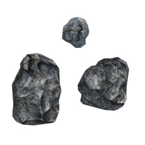 3d model rocks normal games