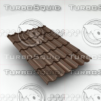 metal roof tiles sheet 3d max