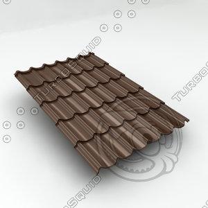 metal roof tiles sheet 3d max