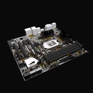 3d model asrock extreme4m motherboard