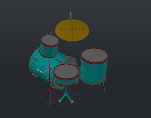 3d drum modeled autocad