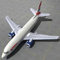 3d boeing 737 500 - model