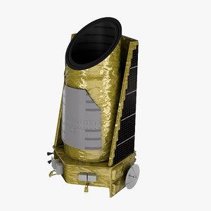 kepler telescope 3d max
