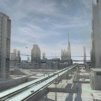 Sci Fi City Futuristic Cityscape