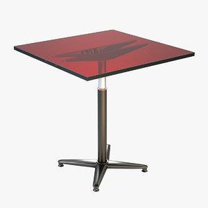 3d plastic table materia model