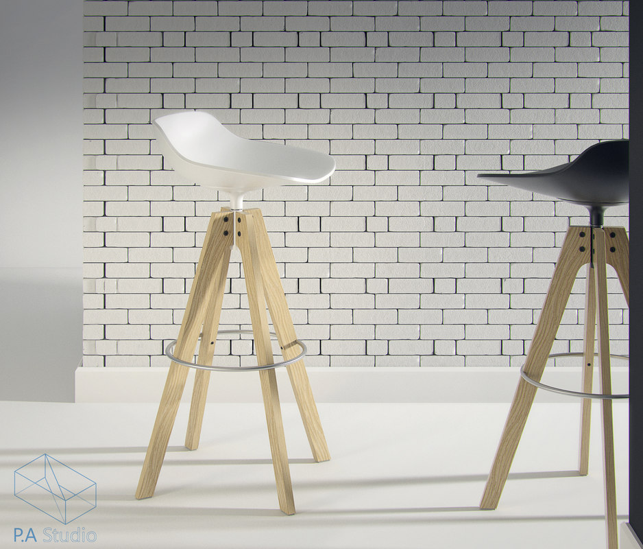 flow stool design 3d model