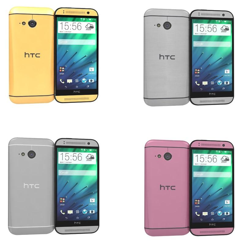 htc mini 2 colors 3d max