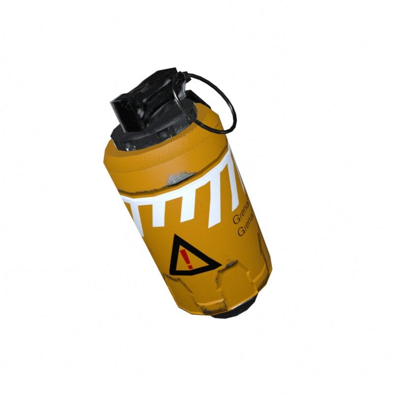 3d antitank grenade model