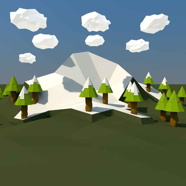 3d real mountain landscape