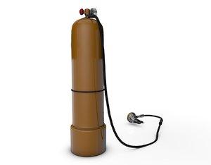 3d scuba tank mouthpiece