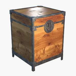 antique chest 3d max