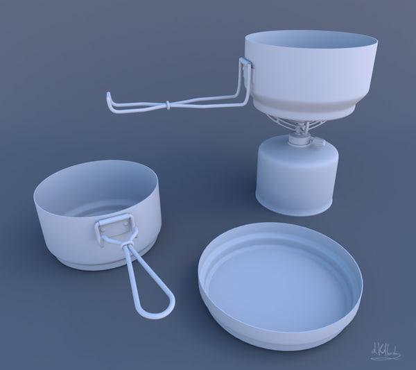 3d model camping utensils