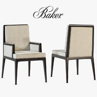 Baker - Carmel cane dining side chair and armchair