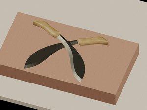 3d kukri knife model