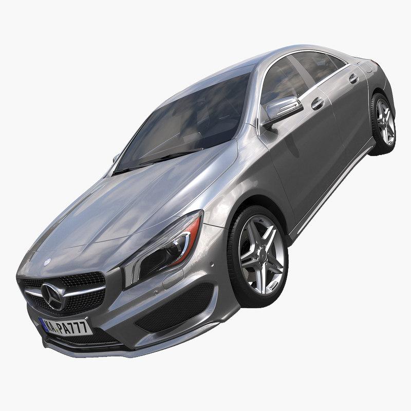 3d model 2015 mercedes benz cla