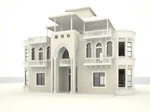 3d house columns architectural