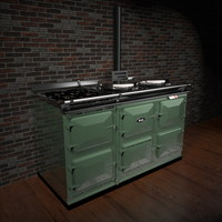 aga stove 3d 3ds