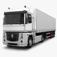 3d max renault magnum 500 trailer truck
