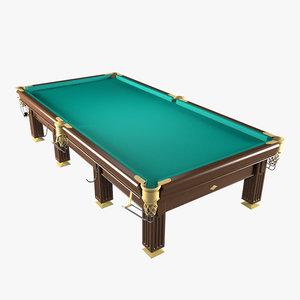3ds billiard table