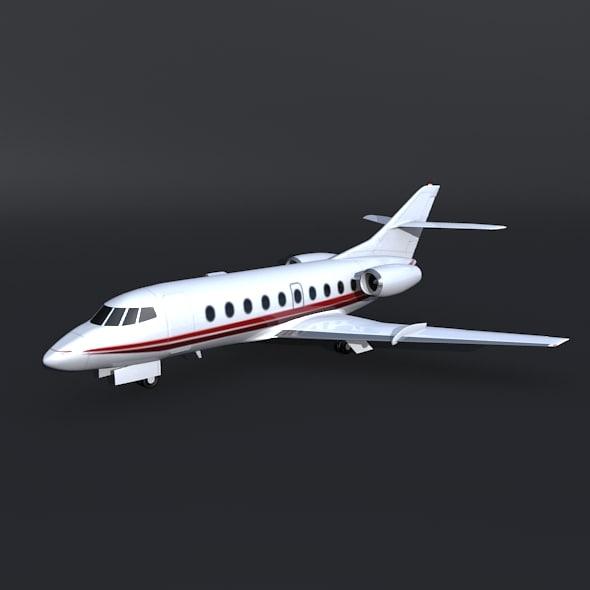 3d model jet dassault falcon