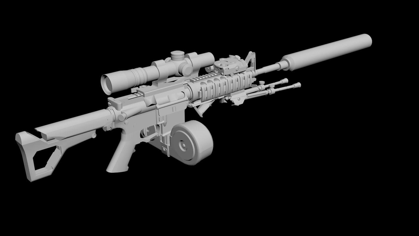 3ds max sniper carbine
