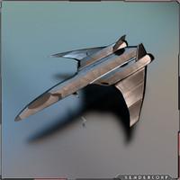 spaceship fighter 3d fbx