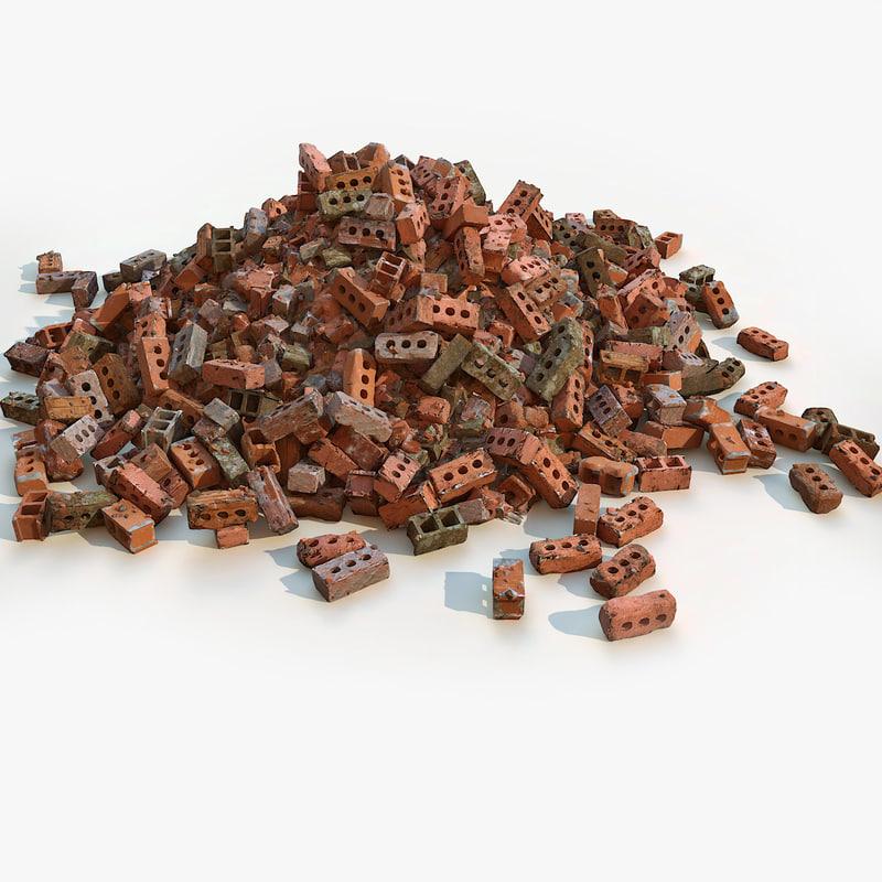 max debris bricks pile