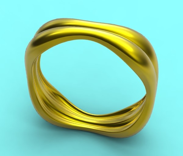 free ring gold silver 3d model