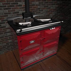 3d model aga stove