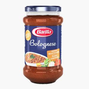 3d sauce bolognese