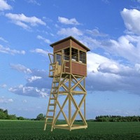 wooden guard tower 3d 3ds