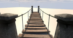 3dsmax rope bridge