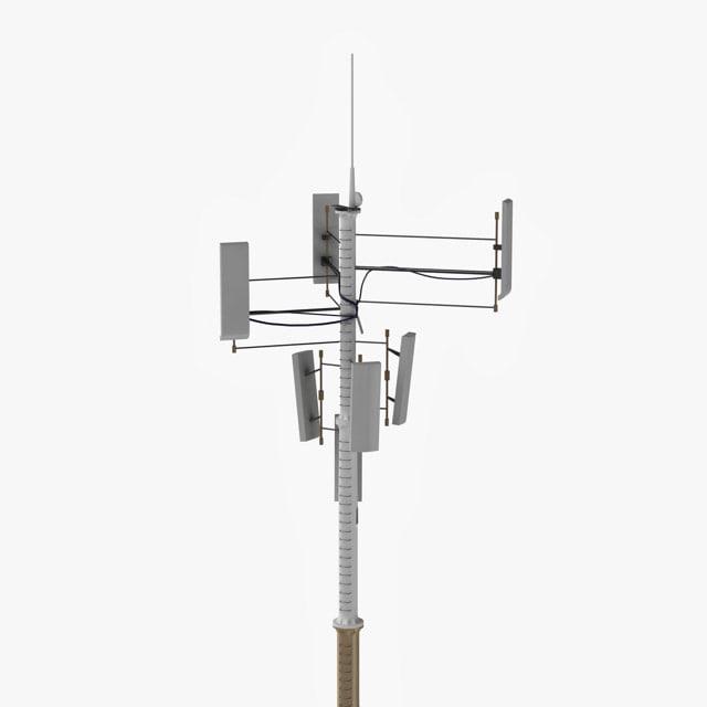 3d model cellular antenna