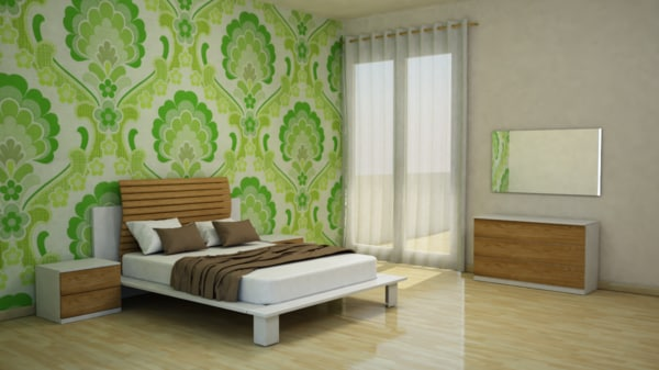 3d bedroom furniture room