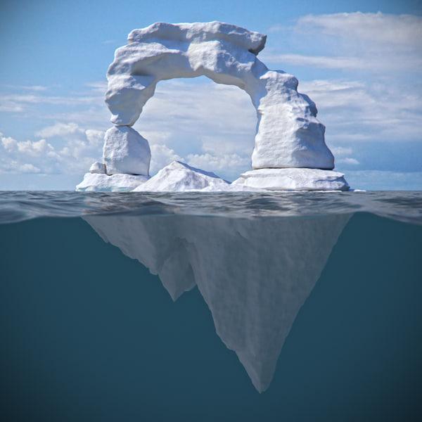 3d model ice iceberg berg
