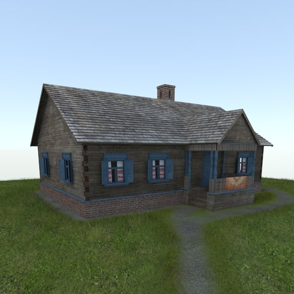 3d model village house izba