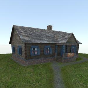 3d model village house izba
