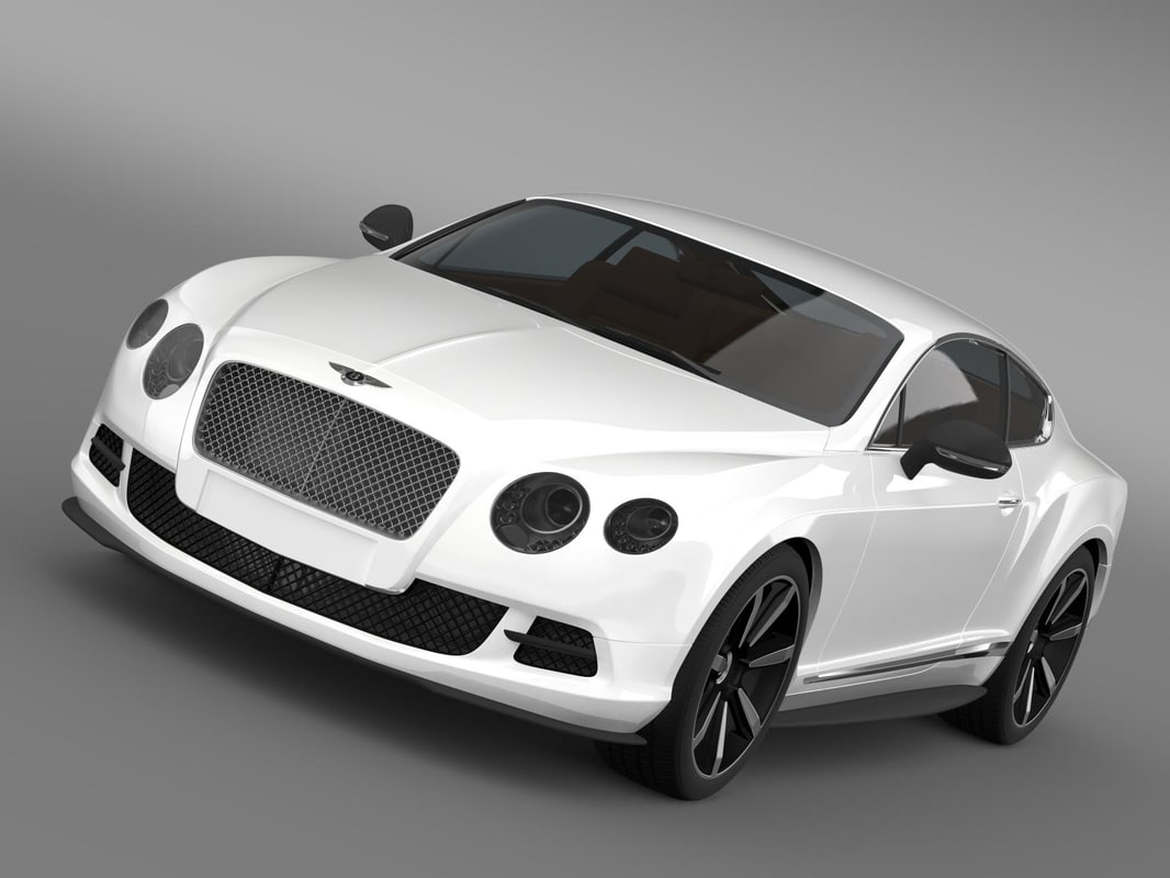 3d bentley continental gt mulliner