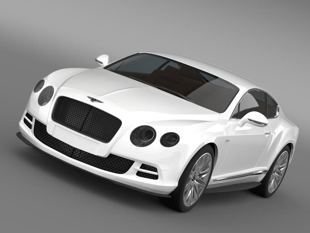 3d model bentley continental gt speed