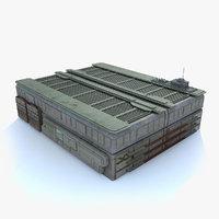Sci fi Building - L textured