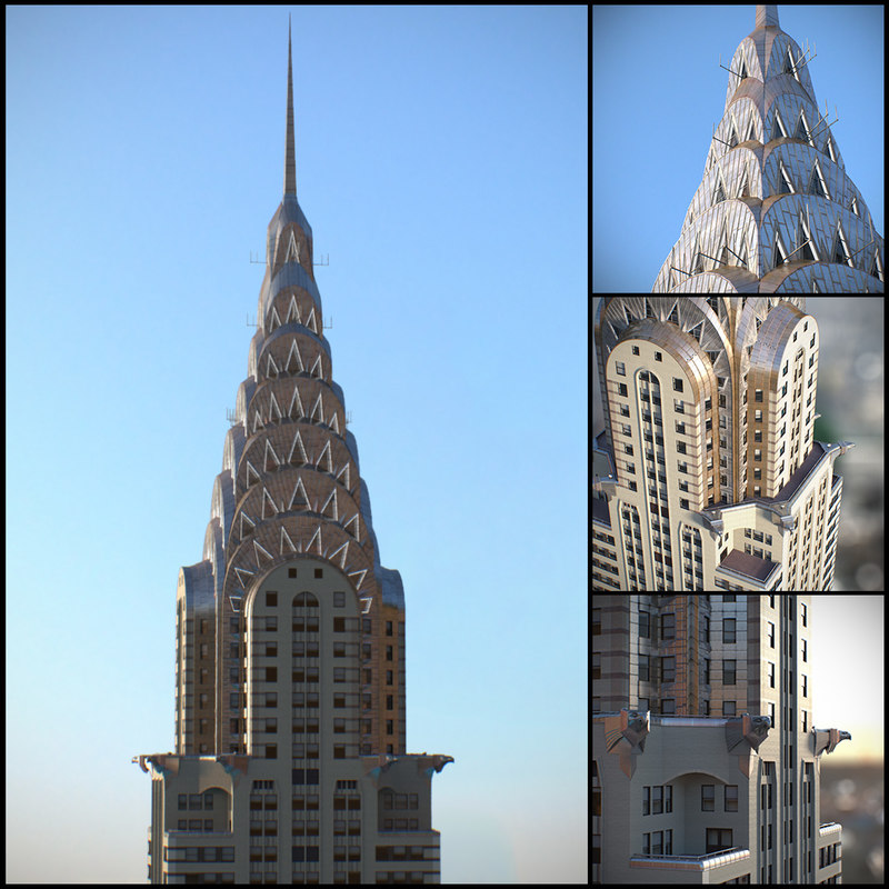 3d max chrysler building